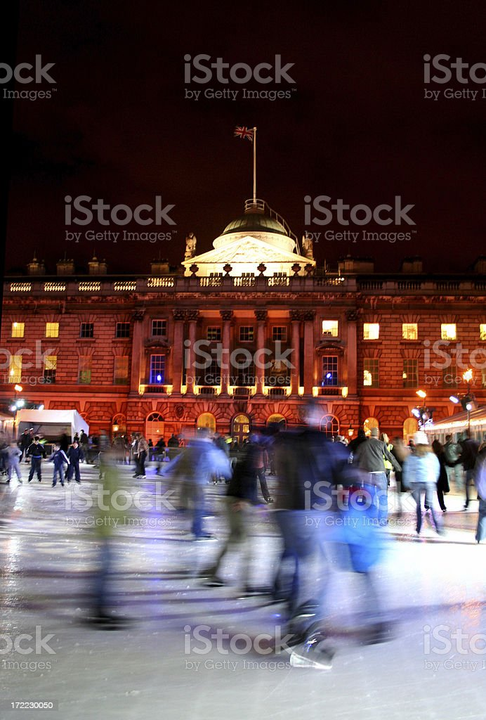 Ice Skating stock photo