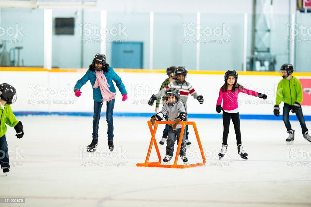 Ice skating royalty-free stock photo