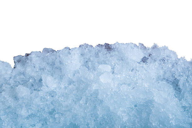 Ice Stick Cer On White Wall Stock Photo