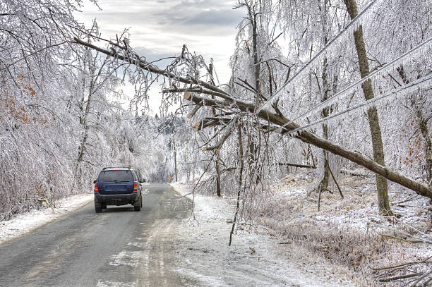 ice storm danger - impaired driving stock photos and pictures