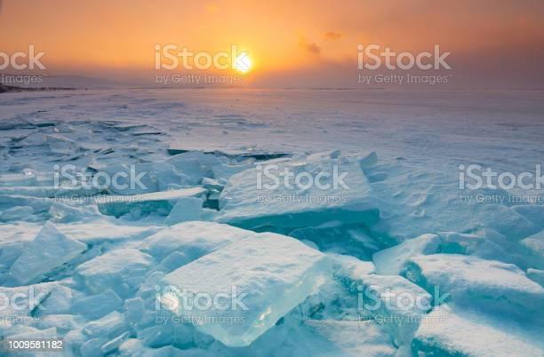 Photo of Ice surface of Baikal lake