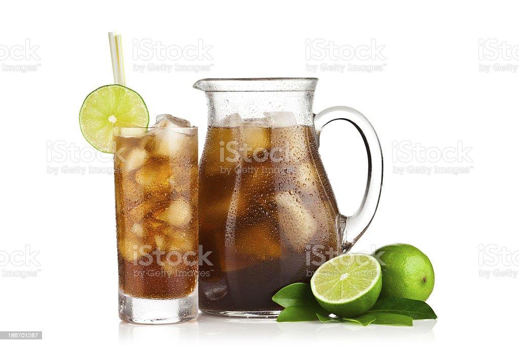 Ice Tea and Lemons royalty-free stock photo