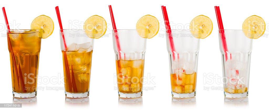 Ice tea sequence stock photo