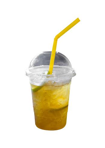 Iste Med Citron På Vit Bakgrund-foton och fler bilder på Citron