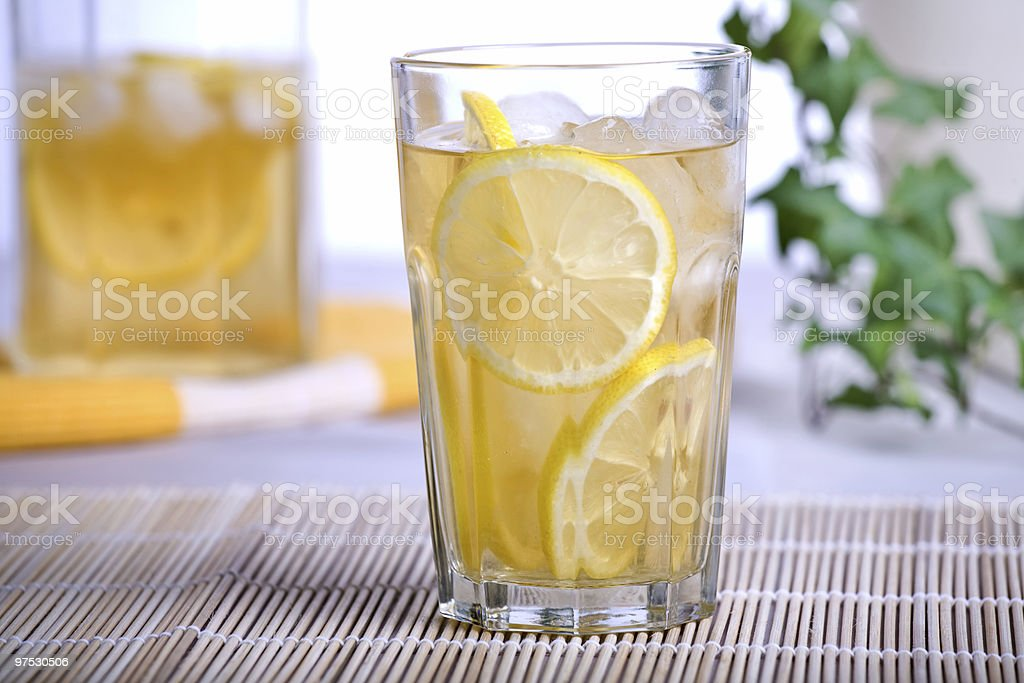 ice tea with lemon royalty-free stock photo