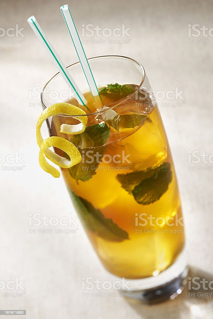 Ice Tea with Mint stock photo