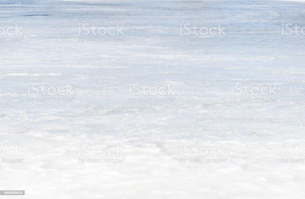Ice texture on outdoor rink with snow royalty free stockfoto