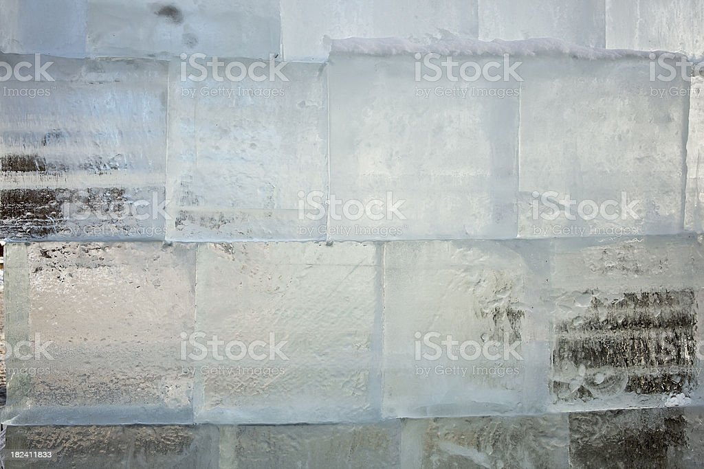 Ice wall built of cubes royalty-free stock photo