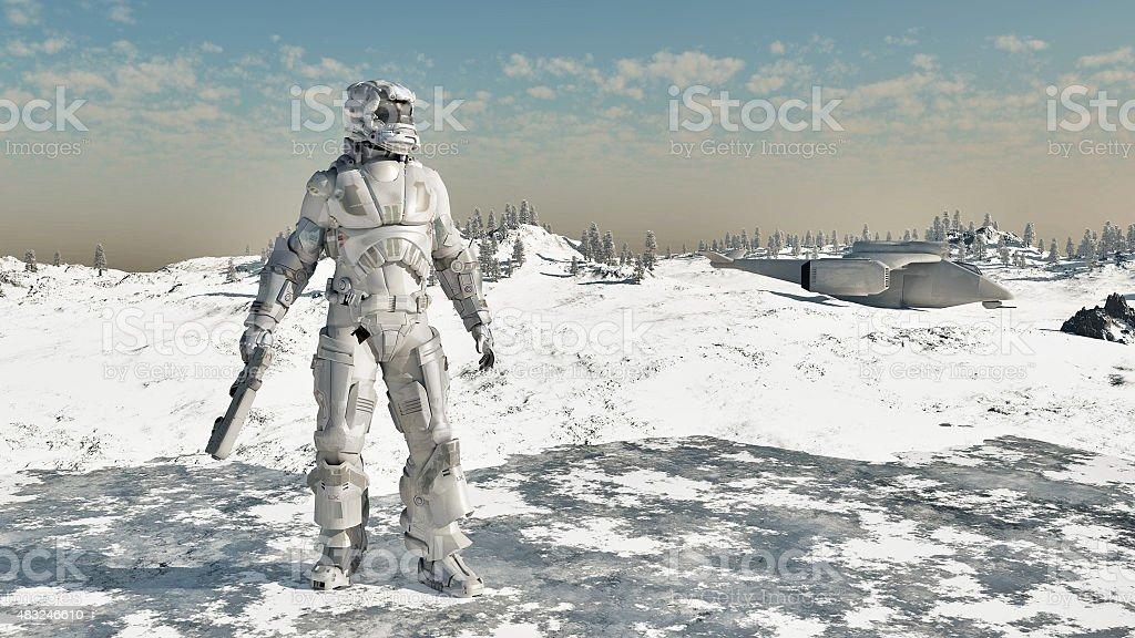 Ice Warrior stock photo