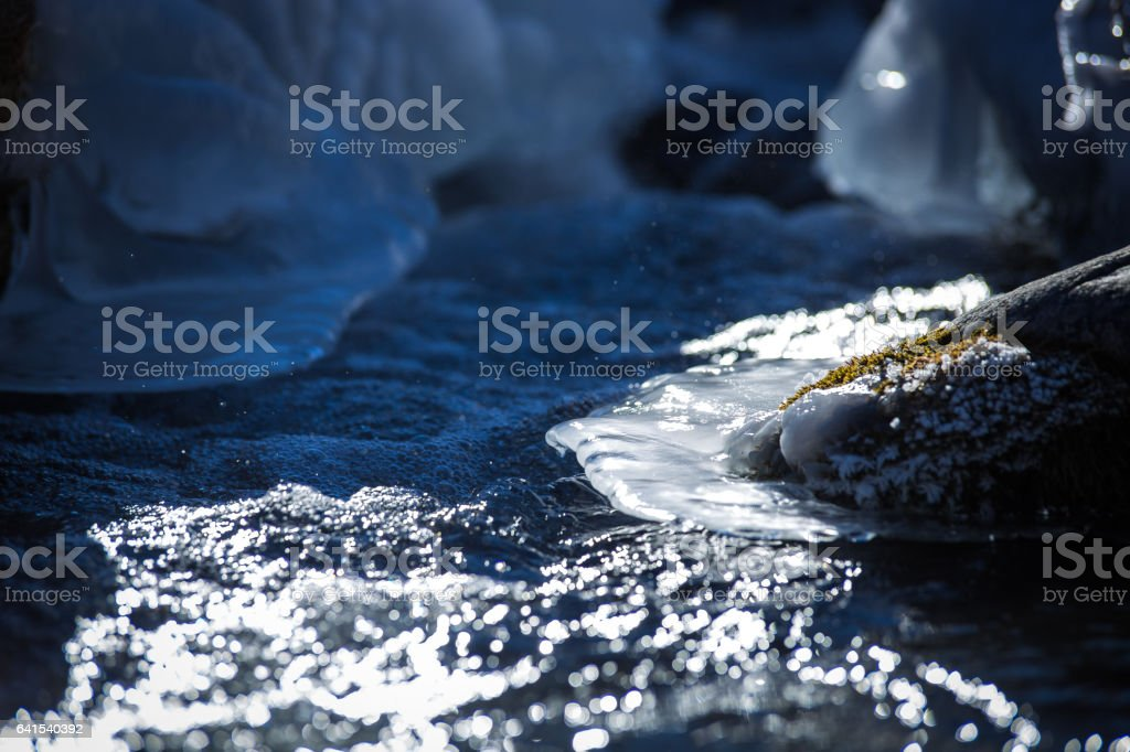 Ice & water royalty-free stock photo