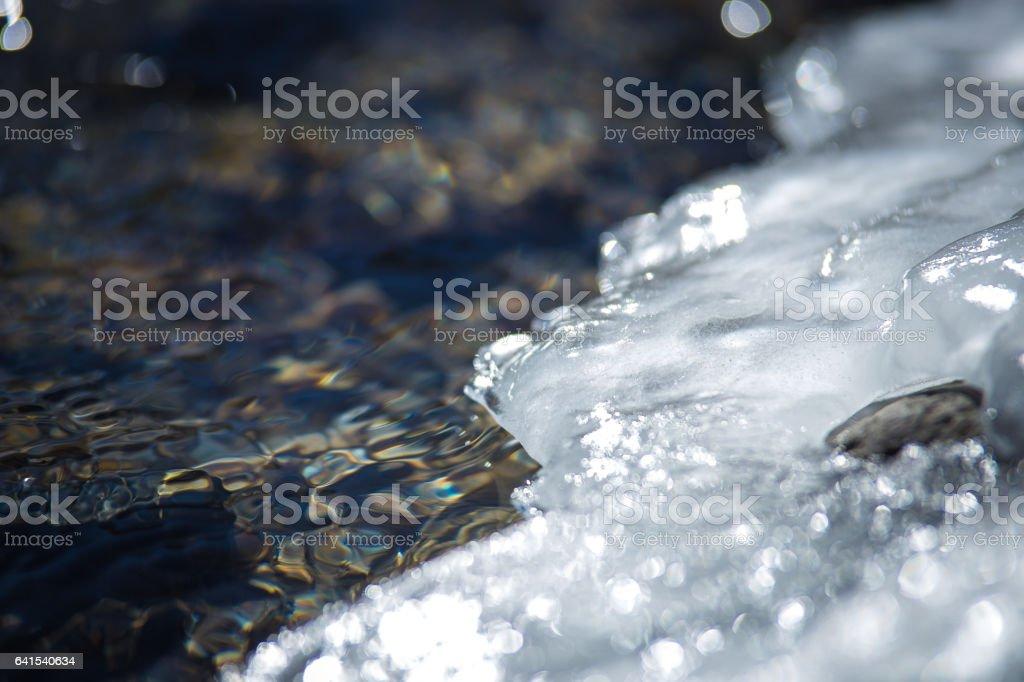 Ice & water stock photo