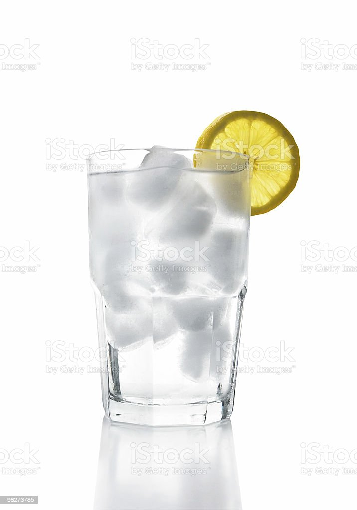 Ice Water with Lemon (clipping path) royalty-free stock photo