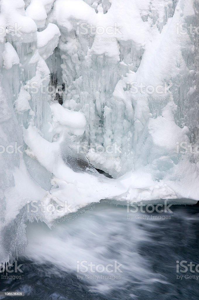Ice Waterfall ; Banff National Park stock photo