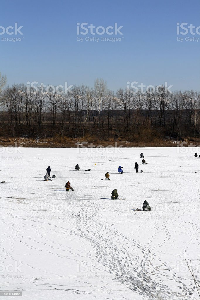 ice winter fishing royalty-free stock photo