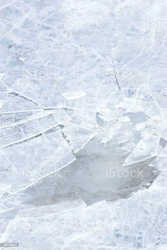 ice with cracks outdoors royalty-free stock photo