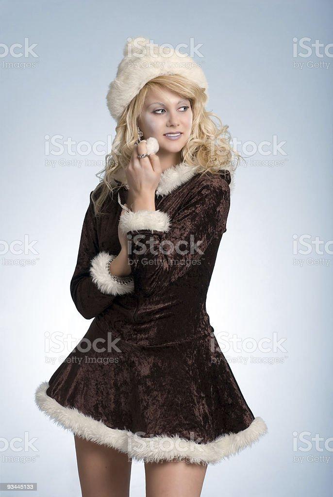 ice Frau, verspielt Lizenzfreies stock-foto