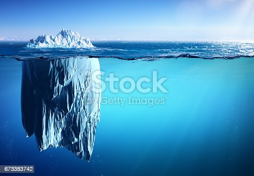 Iceberg floating in Polar Sea