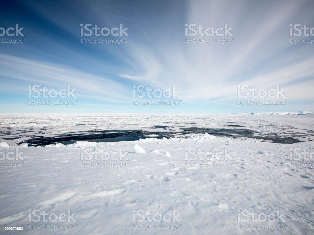 Iceberg at ice floe edge Baffin Island stock photo