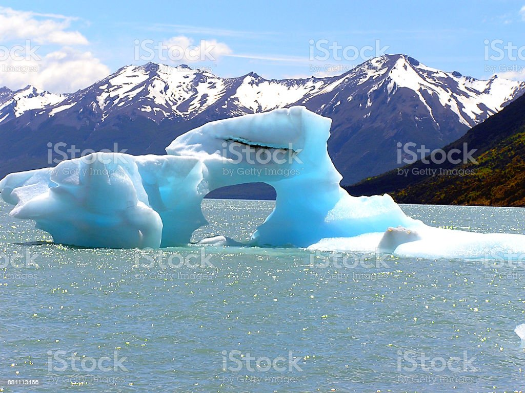 Iceberg at Perito Moreno Glacier stock photo