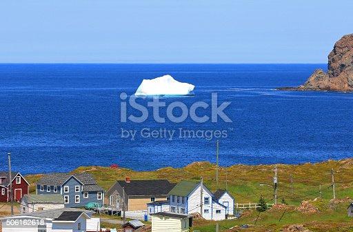 Iceberg close to Shore, Twillinggate, Newfoundland, Canada