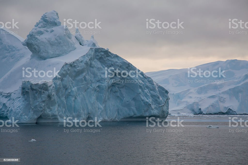 Iceberg covered with snow stock photo