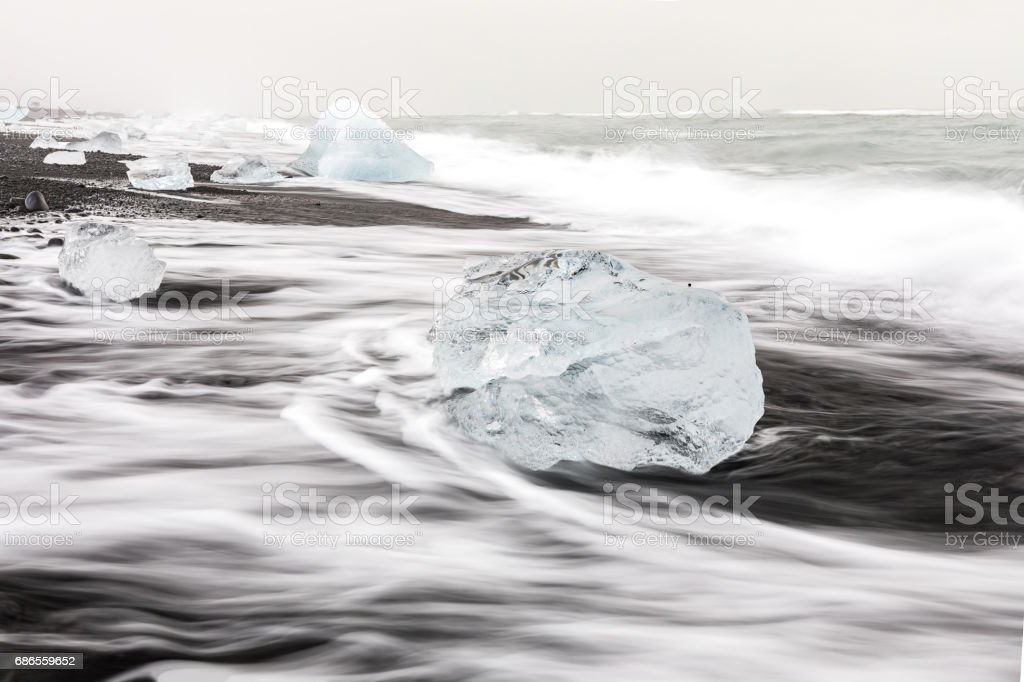 Iceberg Diamond beach Iceland royalty-free stock photo
