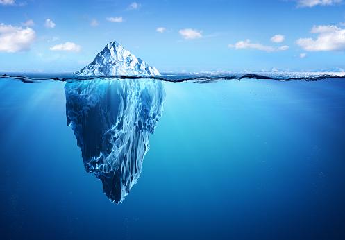 Iceberg Floating In Arctic Sea