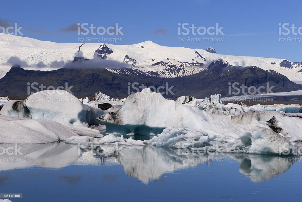Iceberg floting under glacier in Iceland royalty-free stock photo