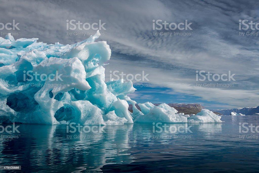 Iceberg Greenland Harefjord stock photo