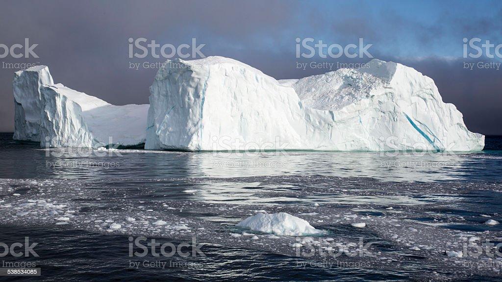 Iceberg in Arctic Ocean stock photo