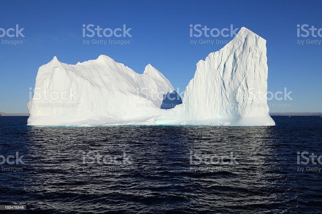 Iceberg in Barrow Strait off Cape Ricketts, Devon Island, Nunavut. stock photo