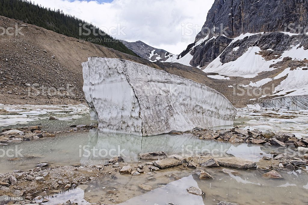 Iceberg in Cavell Pond,Jasper,Alberta,Canada royalty-free stock photo
