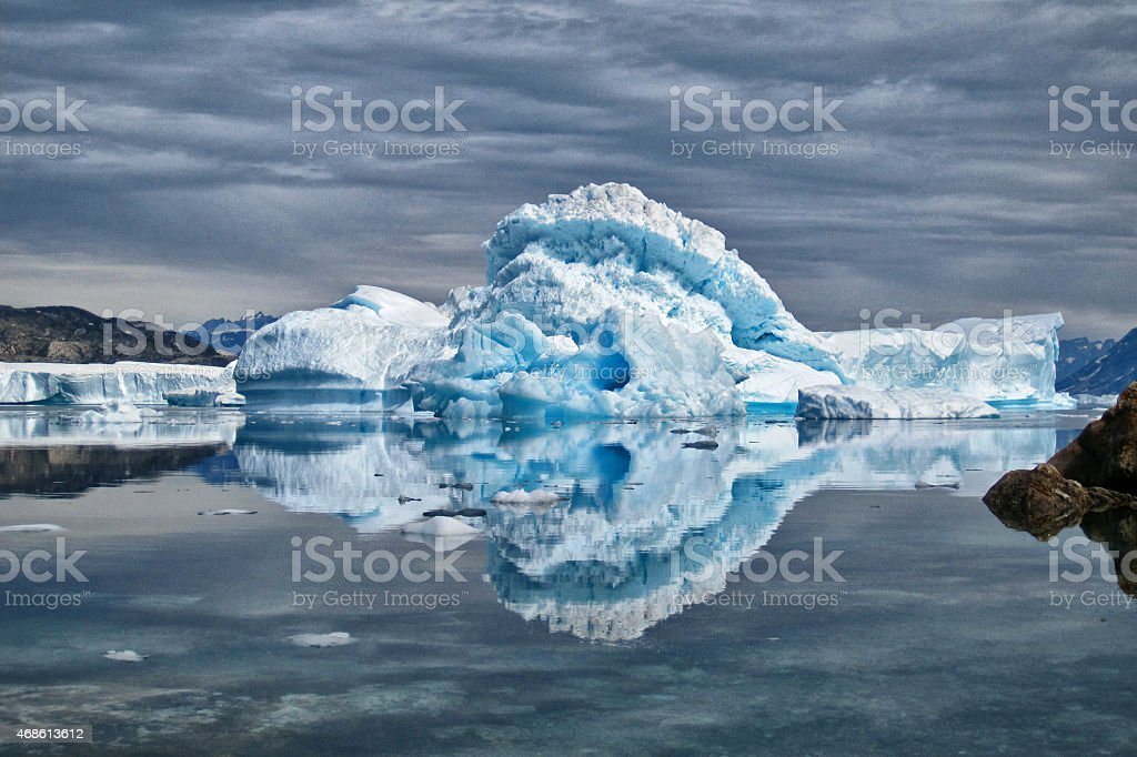 Iceberg in Greenland stock photo