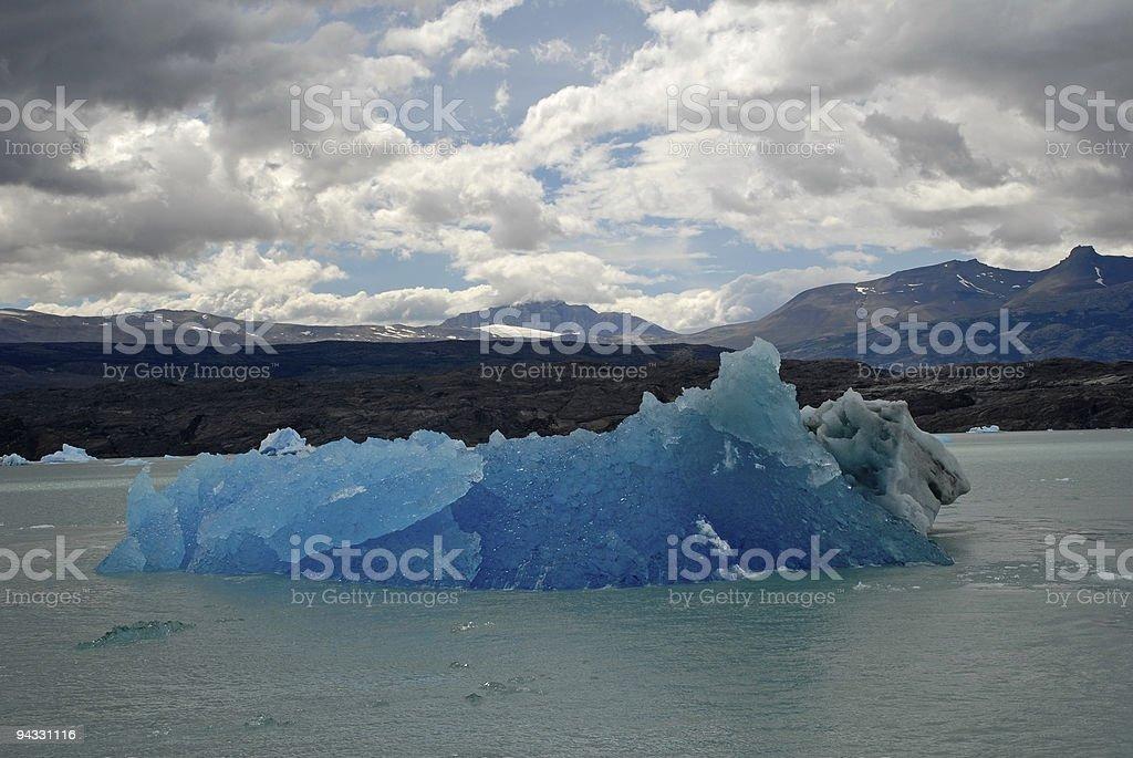 Iceberg in lake Argentino near Upsala glacier. royalty-free stock photo
