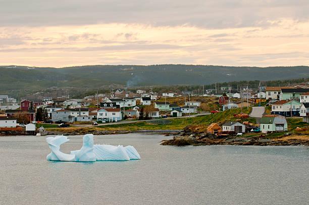 Iceberg in St. Anthony, Newfoundland  st. anthony of padua stock pictures, royalty-free photos & images