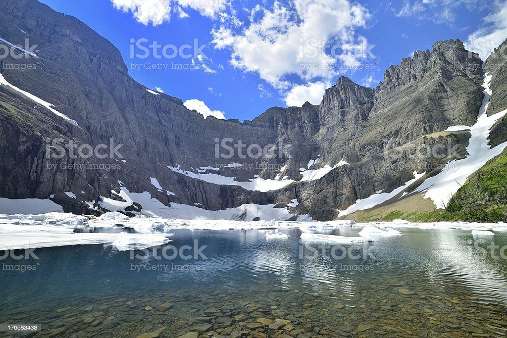 Iceberg Lake in Glacier national park royalty-free stock photo