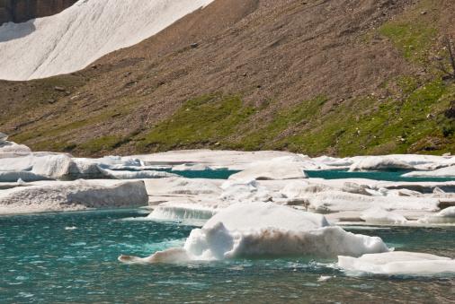 Ice Floating On Iceberg Lake Stock Photo - Download Image Now