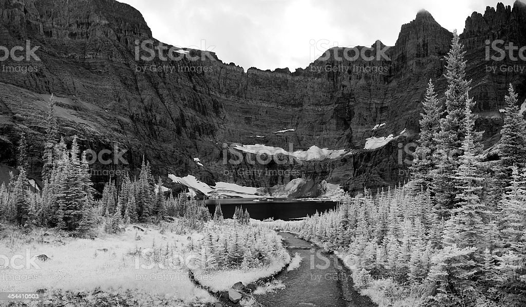 Iceberg Lake Landscape In Infrared royalty-free stock photo
