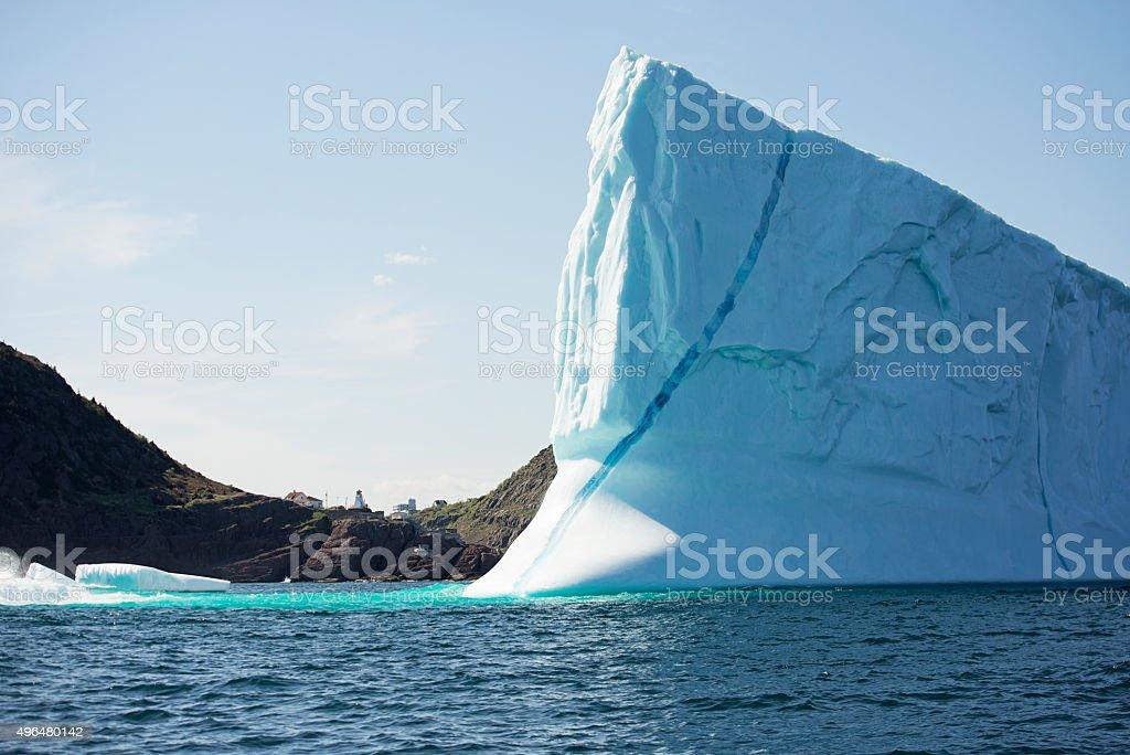 iceberg lighthouse stock photo