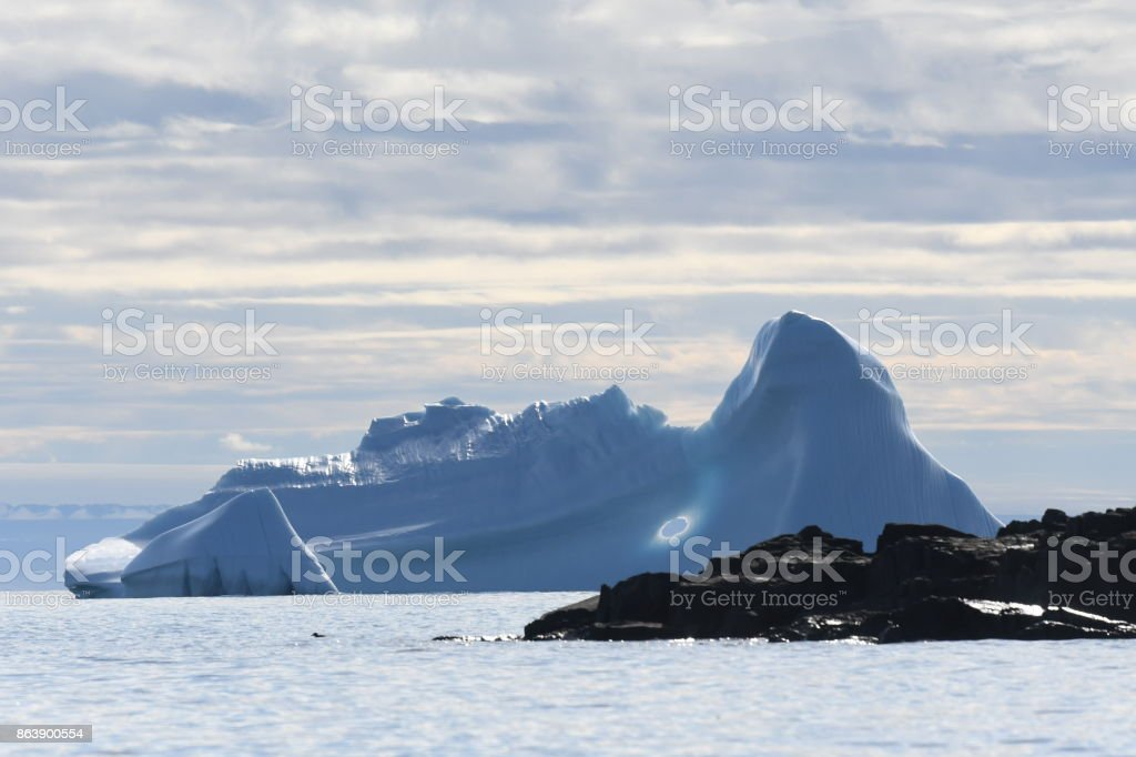 Iceberg near Thule Air base stock photo