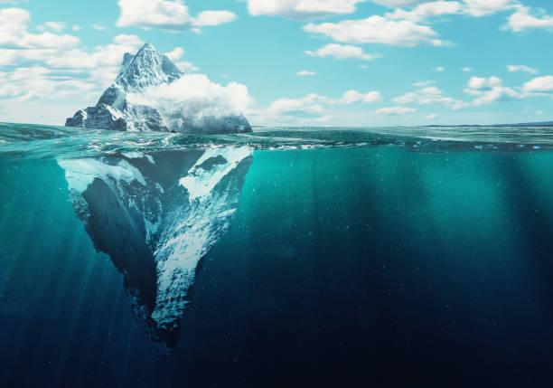 ijsberg - onder water stockfoto's en -beelden