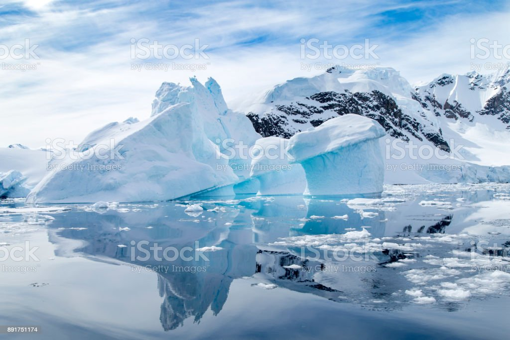 Iceberg Reflection stock photo