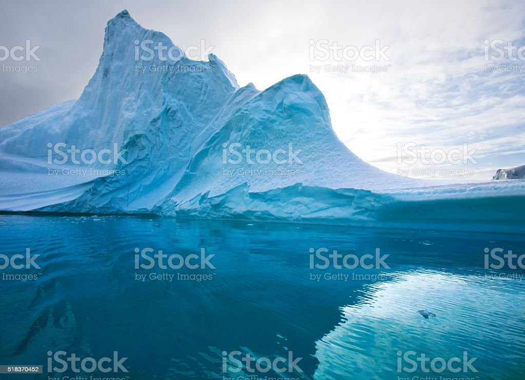 Iceberg - Scoresbysund - Greenland stock photo
