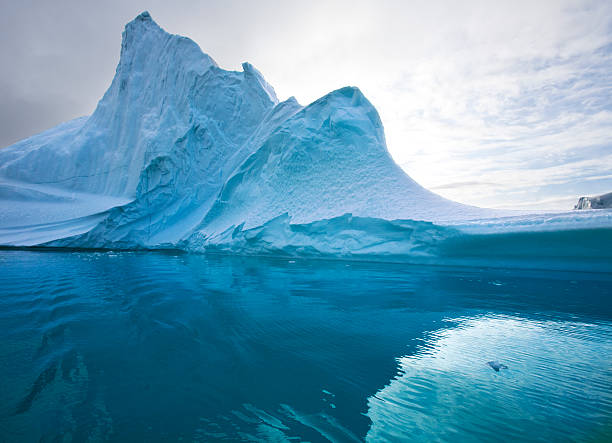 Cтоковое фото Айсберг-Scoresbysund-Гренландии