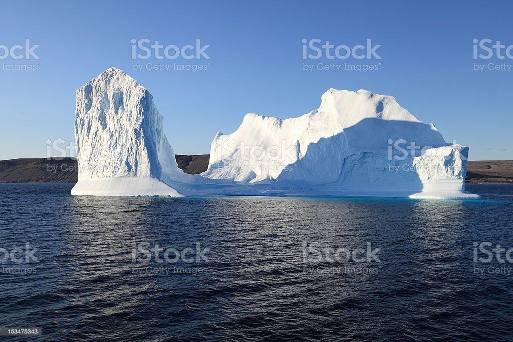 Iceberg south of Devon Island, Nunavut, Canada. stock photo