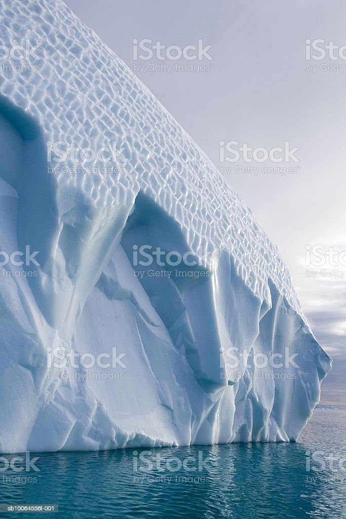 Iceberg surface in fjord royalty-free stock photo