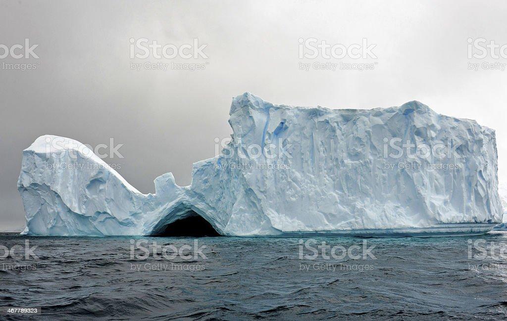 Iceberg tunnel stock photo