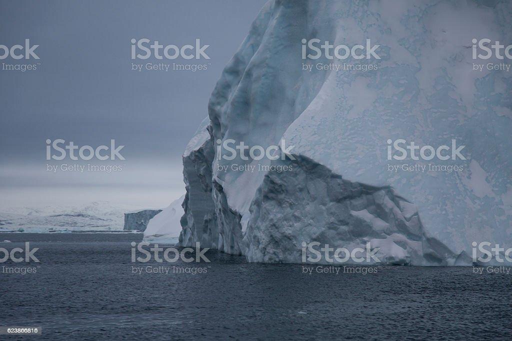 iceberg up close stock photo