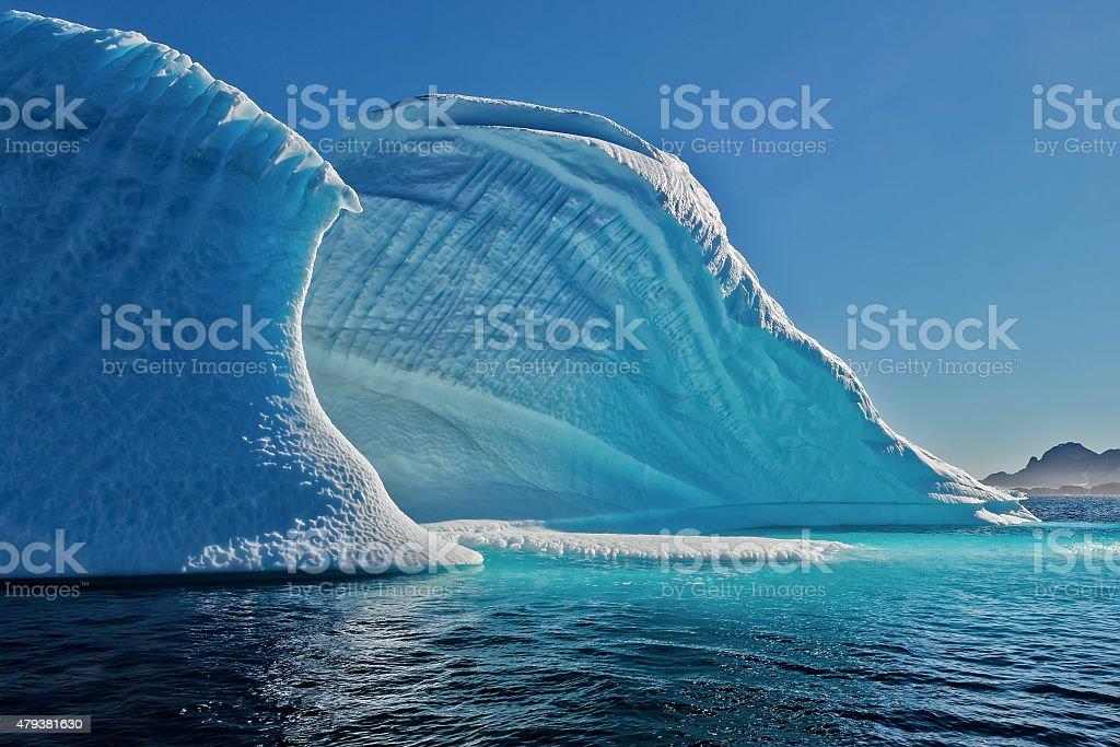 Iceberg Wave Greenland Skoldungen Fjord stock photo