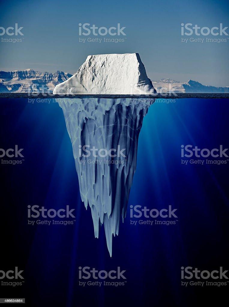 Eisberg mit Unterwasser-Blick – Foto